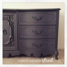 "The Carolina Dresser by Thirty Eighth Street finished with Prairie Colors Chalk Finish Paint in ""Telegram"""