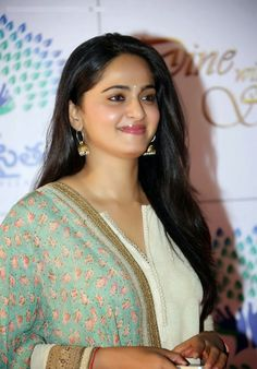 Anushka Shetty Cute Stills In White Dress - Anushka Shetty