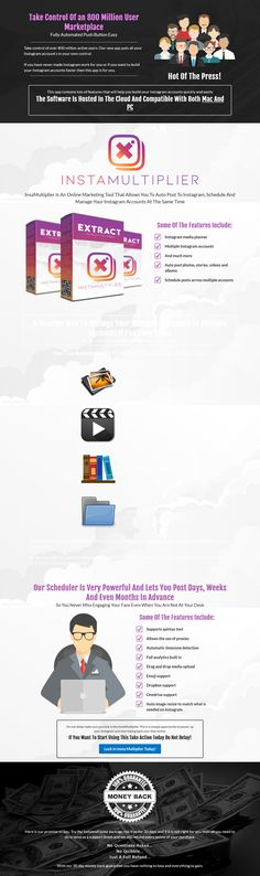 InstaMultiplier is an online marketing tool that allows you to auto post to Instagram, schedule and manage your Instagram accounts at the same time. The post InstaMultiplier appeared first on DiscountSAAS. Online Marketing Tools, Marketing Software, Internet Marketing, Instagram Schedule, Seo Tools, You Lost Me, Losing Me, Instagram Accounts, Online Business