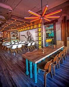 09 2014 don chido 180 restaurant trends bar design awards, bar design, rest Restaurant Bar, Mexican Restaurant Design, Mexican Bar, Decoration Restaurant, Restaurant Lighting, Restaurant Concept, Restaurant Interior Design, Restaurant Interiors, Colorful Restaurant