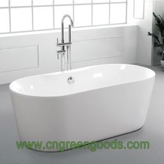"Hot Sale 61"", 65"" Oval Acrylic Freestanding Soaking Tub Massage Spa"
