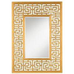 """Greek Key Mirror Silver or gold - $599 59.5""""H x 42""""W (turned on side over dining sideboard?)"""