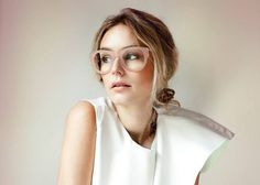 Oversized glasses in blush. #layeredny 25 Rad Pairs Of Eyeglasses At Every Price