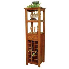 Macy Wine Tower | Amish Wine Cabinets, Amish Furniture | Shipshewana Furniture Co.