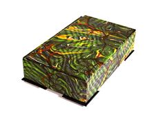 Decorative box in striking marbled paper for by theBOXshop1618