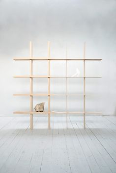 The shelf KOKORO embodies that approach, from its making-process to its communication with its user. KOKORO aims to humanize the object. Its construction awakens the sensory perceptions of the user, demanding a mindful interaction. #design #shelf #simplicity #japan #pure #mindfulness