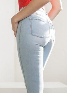 Skinny High Waisted Vintage Denim Jean Denim Branding, Ethical Clothing, Spanx, Casual Summer Outfits, Vintage Denim, Slow Fashion, High Waist Jeans, Skinny Legs, Black Jeans