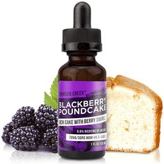 Johnson Creek Vapor Liquid Blackberry Poundcake - Delightful mix of sweet and tart blackberries and warm pound cake. Smooth enough for an all day vape, but this blackberry e-Liquid can also serve as an after dinner treat.70% VG