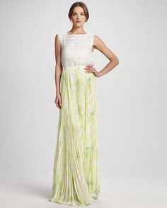 Alice Olivia Shannon Floral Maxi Skirt