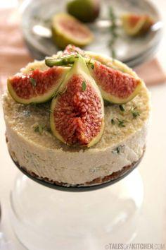 Raw lemon fig walnut cake