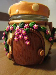 frasco con flores
