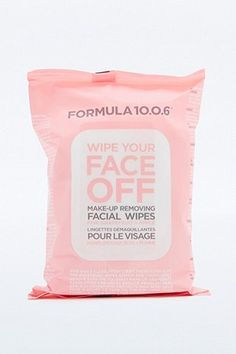 Formula Face Wipes Long day at work and can't be bothered to wipe off that make-up? Use this face wipes, equally deep cleansing, packed with grapefruit to exfoliate and apple to cleanse and protect; a quick and easy tool to use in your skincare routine. Face Off Makeup, Wet Hair Overnight, My Beauty Routine, Skincare Routine, Festival Shop, Festival Fashion, Vintage Hairstyles Tutorial, Oily Scalp, Best Face Products
