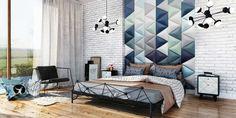 dappi - Galeria - panele tapicerowane, dekoracyjne, ścienne Bed Headboard Design, Bedroom Bed Design, Headboards For Beds, Bedroom Wall, Bed Room, Upholstered Wall Panels, Panel Headboard, 3d Kitchen Design, 3d Wall Panels