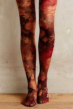 Beautiful floral tights #anthrofave http://rstyle.me/n/sxqmenyg6