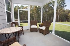 Screened-in porch - Dover model - Tree Tops Meadows