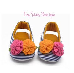 Baby girl shoes floral baby shoes  Baby shoes by TinyStarsBoutique
