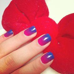 Steffels ombre nails
