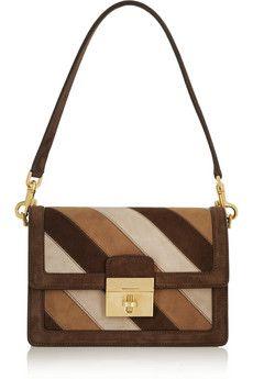 e5e219670a Dolce   Gabbana - Striped suede shoulder bag