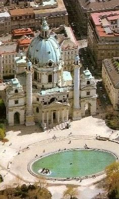 Karlskirche (St. Charles's Church), Vienna, Austria. I've been here and loved it!!!