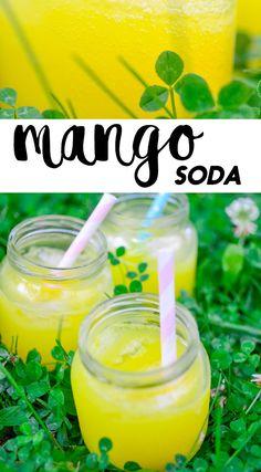 MANGO SODA | MANGOSOODA Summer Nights, Soda, Mango, Party, Recipes, Manga, Beverage, Soft Drink, Recipies