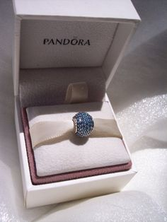 Teal Pave Lights CZ Authentic Pandora Bracelet Bead FREE SHIPPINGGift Box Sold Separately by JEWELSELAGANT on Etsy