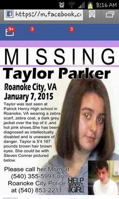 MISSING FROM ROANOKE VA`~~PLEASE SHARE