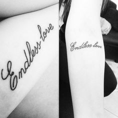 Endless Love Tattoos for Sisters