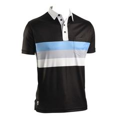 Nelson Black Active Lifestyle Polo Shirt