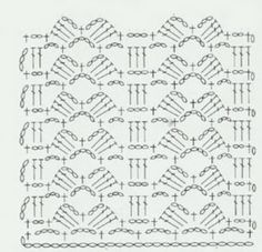 It's in Spanish, but it looks like a cool stitch for a blanket or bag Motif Bikini Crochet, Crochet Scarf Diagram, Crotchet Stitches, Crochet Stitches Patterns, Crochet Chart, Thread Crochet, Crochet Designs, Crochet Lace, Stitch Patterns