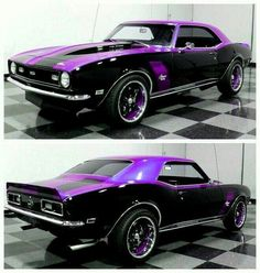 Chevy Camaro in Black 'n' Purple..Re-Pin brought to you by #autoinsurance at #HouseofInaurance Eugene #musclecars