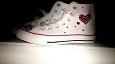 Hey, I found this really awesome Etsy listing at https://www.etsy.com/listing/219131711/queen-of-hearts-converse-with