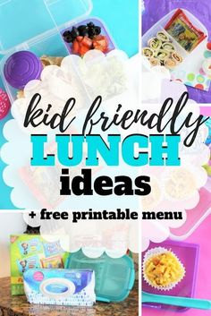 5 Quick Lunch Ideas Every Parent Should Make for their school age child. Plus, a free printable shopping list and menu to make the process easy and quick. Diy Crafts For Kids Easy, Kids Diy, Kids Crafts, Walmart Shopping List, Non Sandwich Lunches, Quick Lunch Recipes, Easy School Lunches, Printable Shopping List, Lunch To Go