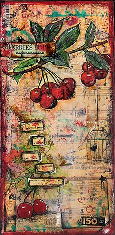 Cherry mixed media