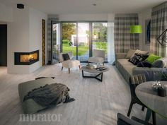 projekt domu C333b Miarodajny - wariant II - Murator projekty Cottage, Patio, Contemporary, Interior, Outdoor Decor, House, Design, Home Decor, Houses