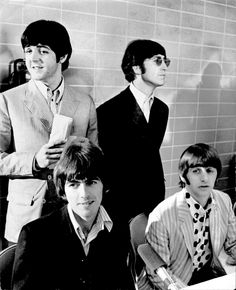Paul McCartney, John Lennon, George Harrison, and Richard Starkey