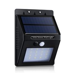 /Plastic 16-LED 320-Lm Solar Panel-powered Motion-sensor Outdoor Security Light with Diamond Lampshade
