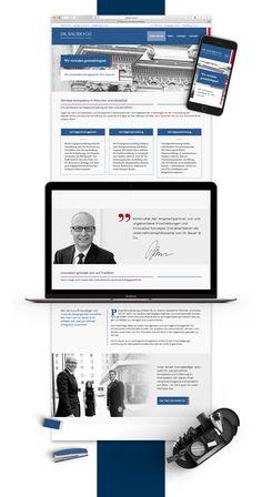 Webdesign und visuelle Markenkommunikation für die Marke Dr. Bauer & Co. Vermögensmanagement #rebranding #markenkommunikation #corporatedesign #webdesign #printdesign #logodesign