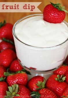 High Heels and Grills: Fruit Dip. This stuff is addicting and the best part is? There are only THREE ingredients!! #dip #fruit #sweet