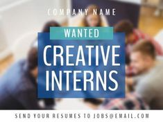 A smooth image in the background and a blue text box with white text for a vacancy job template. Company Names, Resume, Positivity, Templates, Box, Business Names, Stencils, Snare Drum