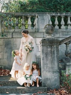 Great photo of Bride and her flower girls   Perfect wedding