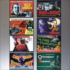 Hammer Horror Film Poster Fridge Magnets - Set of 8 large fridge magnets