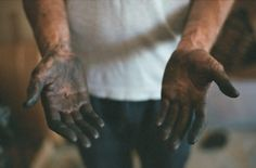"""""""A [wo]man who works with [her] hands is a laborer; a [wo]man who works with [her] hands and [her] brain is a crafts[person]; but a [wo]man who works with [her] hands and [her] brain and [her] heart is an artist. Leo Valdez, Fallout, Hetalia, Adam Parrish, Mechanic Tattoo, Working Hands, Male Hands, Heroes Of Olympus, Rick Riordan"""