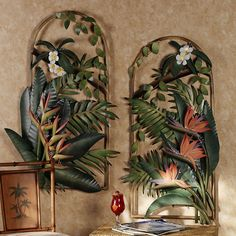 Tropical Gardens Arches Metal Wall Sculptures