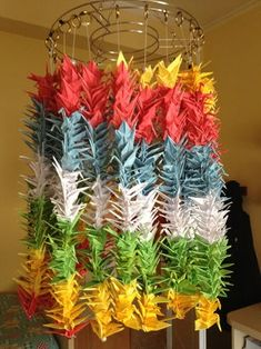 Hanging Origami, Origami Paper Crane, Paper Crafts Origami, Oragami, Origami Cranes, 1000 Paper Cranes, 1000 Cranes, Corset Pattern, Operation Christmas Child