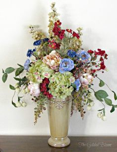 The Gilded Bloom: Fall Floral Arrangements: Designing with Silk Flowers