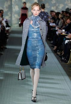 genius! plaid print leather....love this so much!  tory burch fall 2012