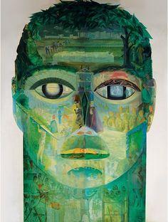 "Twentieth Century British Art by Barbara Jones: ""Man at Work - a century of technical and social progress, Working Man, Popular Art, Shades Of Green, Graphic Illustration, Mystic, Modern Art, 1, Fine Art, Artist"