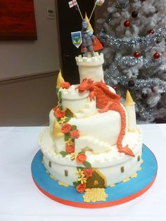 Dragon Castle Wedding Cake
