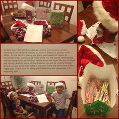Day 13: On a night that I would be taking the boys out caroling with me along with some if my coworkers (I'm a hospice SW'r), Freddie told the boys that Santa made them honorary helper elves and asked them to hand out candy canes to the residents they visited at the facilities. Another lesson in giving back at Christmas time.