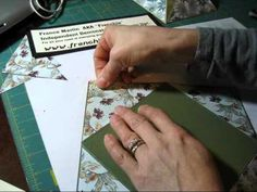 handmade cardmaking video: Diagonal card with fancy closure by  www.frenchiestamps.com ... luv the punched hearts closure! ... great tips too ... Stampin' Up!